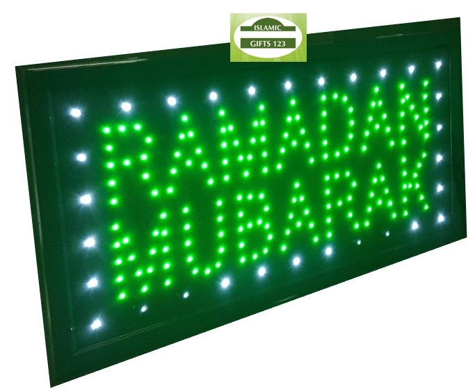 Ramadan Mubarak Led Window Sign Islamic Gift 123